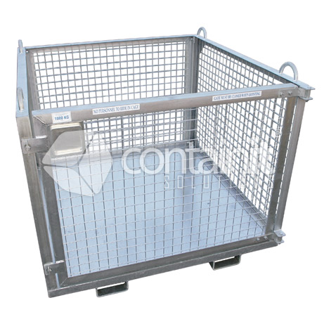 Craneable Cage with Mesh Sides