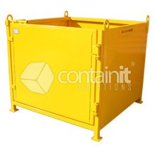 Heavy Duty Craneable Cage with Steel Sheet Sides