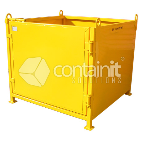 Craneable Cage with Steel Sheet Sides