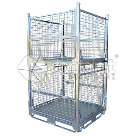 single size full height transport cage stacked