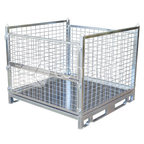 800mm High Multi-Purpose Pallet Cage with sheet floor