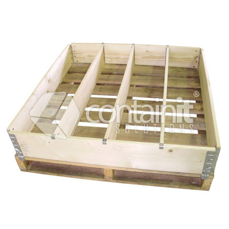 Pallet Retainer with dividers