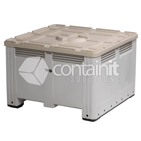 Large Square Plastic Box - Solid with Lid