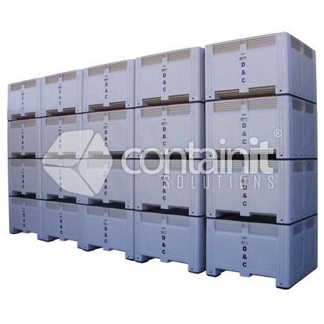 Large Square Plastic Boxes with Hot Stamping