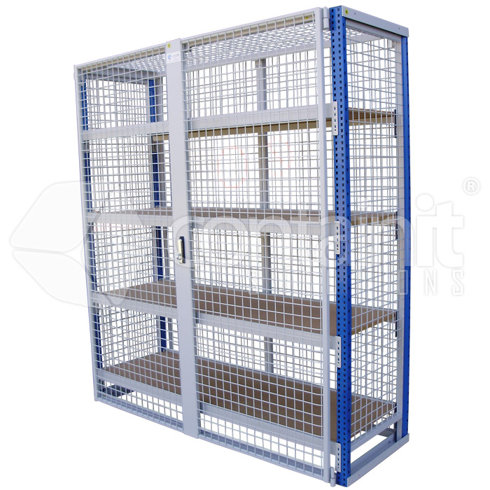 Lockable Storeman Longspan Shelving With MDF Or Mesh