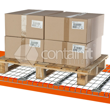 Pallet Rack Mesh Deck with Skid on top