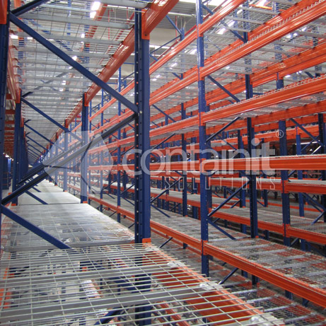 wire mesh decks dividers to suit pallet racking