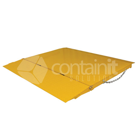 Self-Leveling Forklift Container Ramp