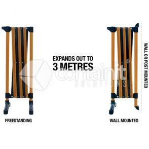 3m Black & Yellow Expanding Barrier