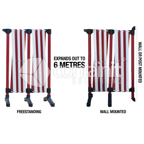 6m Red & White Expanding Barrier