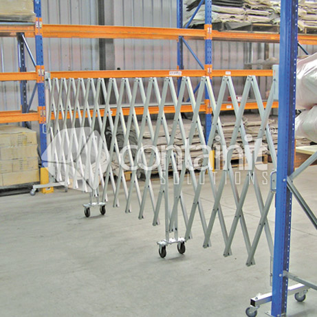 Large Portable Expandable Barrier in action