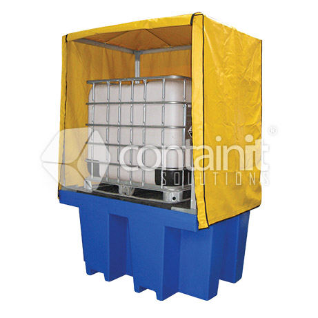 Poly 1 x 1000L IBC Bund with Weathcover