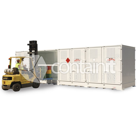 outdoor relocatable dangerous goods stores for 205l drums