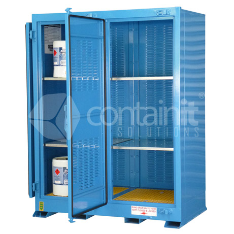 outdoor dangerous goods stores for small class 3 drums Heavy Duty Industrial Shelving Home Depot Shelving
