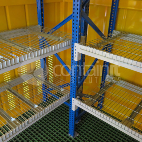 Large Outdoor Drum Storage with Shelving 4