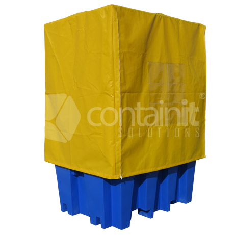 PVC weathercover with frame & zips