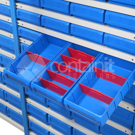 Easy Rack Shelving with Parts Buckets