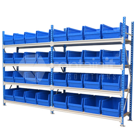 Storeman Longspan with Plastic Parts Bins
