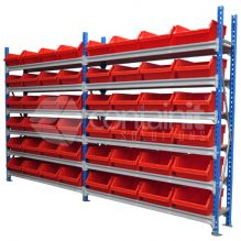 1800L Shelves with Wide HD Buckets