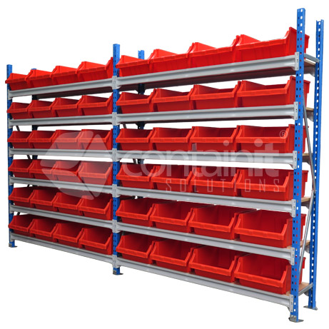 Storeman® 1800L Shelves with Wide Extra Heavy Duty Buckets