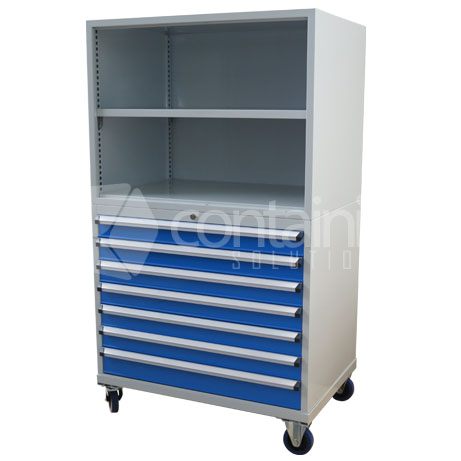 CHD-1750-7C-S (Storeman 7 Drawer Open Top Tool & Parts Trolley)