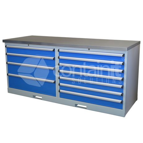 CHD-47DPT (4 Drawer & 7 Drawer Workstation with Stainless Worktop)