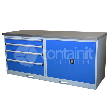 CHD-4DCST (4 Drawer & Cupboard Workstation with Stainless Worktop)