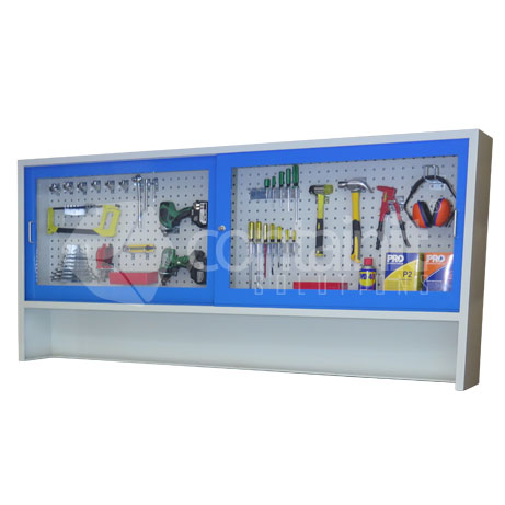 CHD-CAB (Clear Sliding door cabinet for 2020mmW workstations)