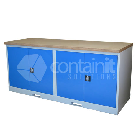 CHD-CCPT (2 x Cupboard Workstation with Ply Worktop)