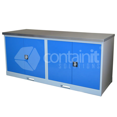 CHD-CCST (2 x Cupboard Workstation with Stainless Worktop)