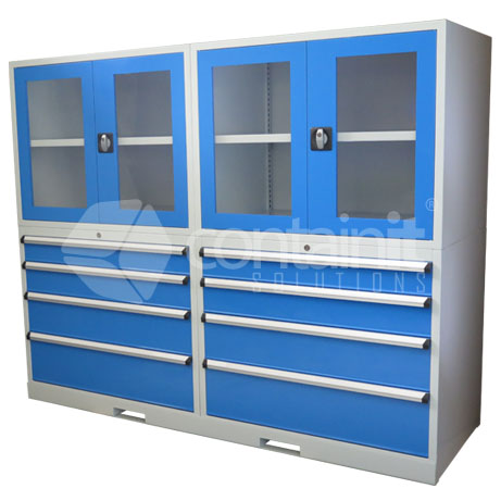 2020 Series Storeman® Workstation Cabinets with Clear Doors