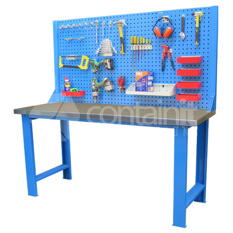 gal with Backboard for Storeman Workbenches