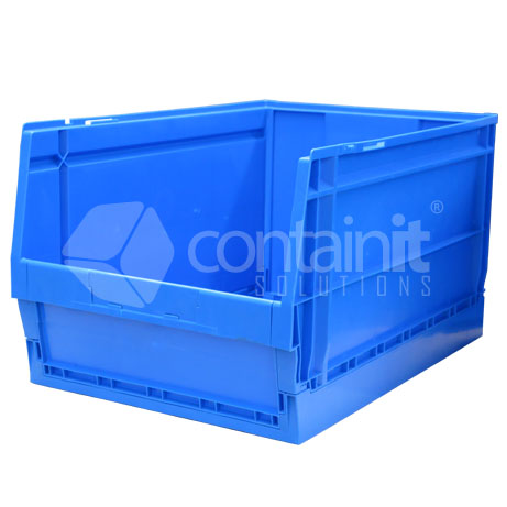 Collapsible Plastic Parts Bins Warehouse And Workshop