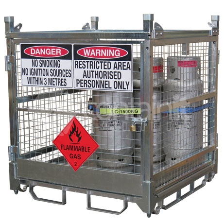 1285 Craneable Gas Cylinder Cage