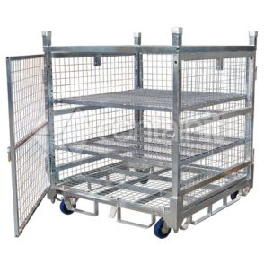 1360 Logistics & Storage Cage with Single Point Castor Lock (1)