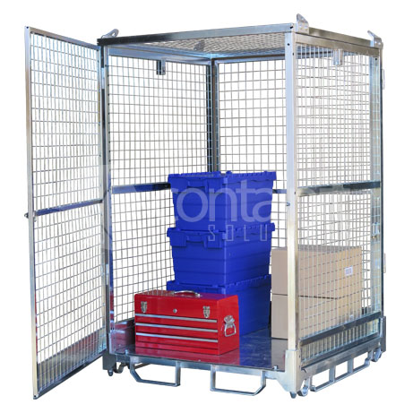 1800 Craneable Mesh Cage open