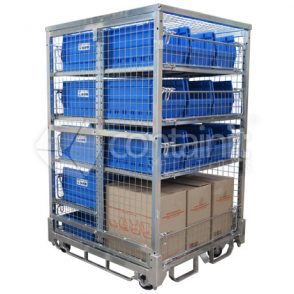 1800 Logistics & Storage Cage with Centre Dividing Panel