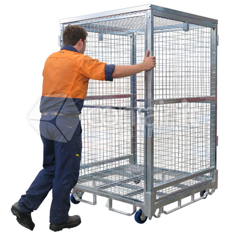 1870 Logistics & Storage Cage with Single Point Castor Lock