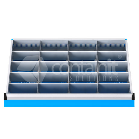 DDM-031 (20 Metal Compartment Drawer Fitout)