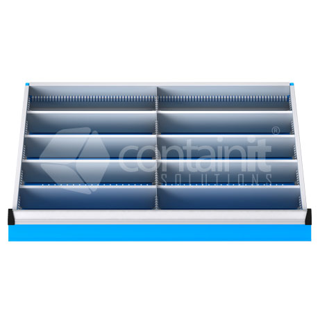 DDM-102 (10 Metal Compartment Drawer Fitout)