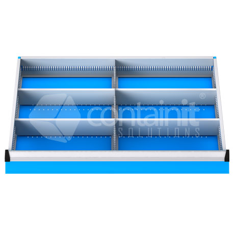 DDM-61 (6 Metal Compartment Drawer Fitout)