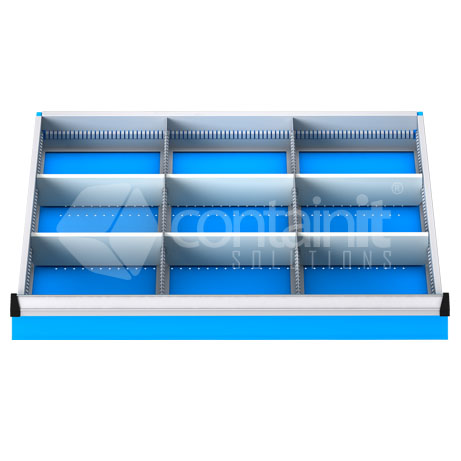 DDM-91 (9 Metal Compartment Drawer Fitout)