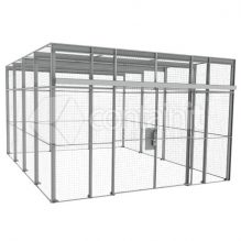Large Galvanized Lockable Mesh Enclosures
