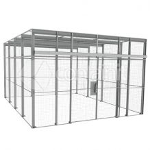 Large Powdercoated Lockable Mesh Enclosures