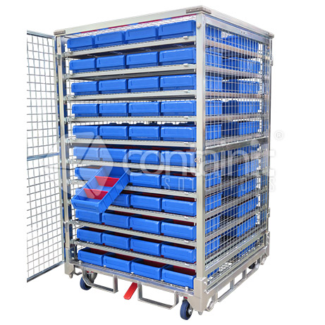 1800 Logistics Amp Storage Cage With Small Parts Bins