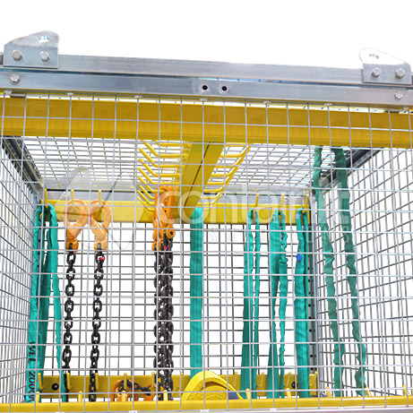 Storage Cage with Rigging Bars inset
