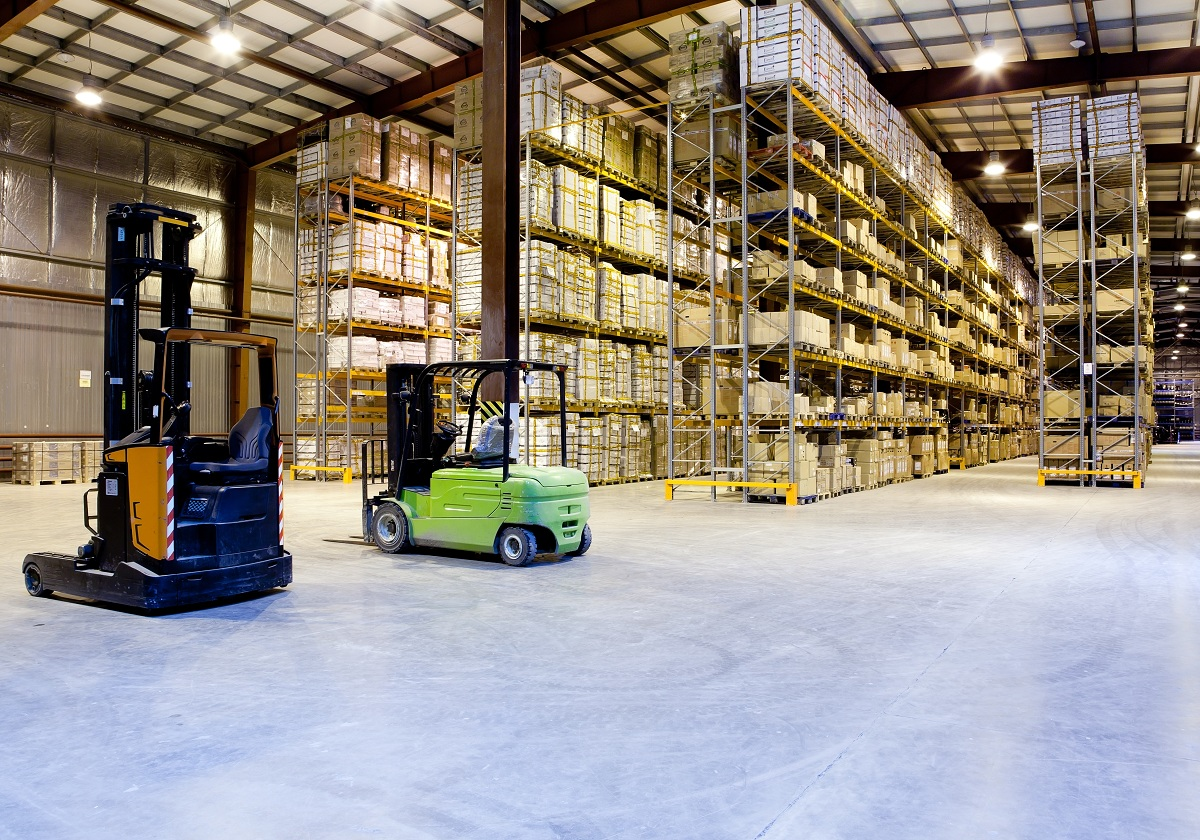 An inside of a storage facility