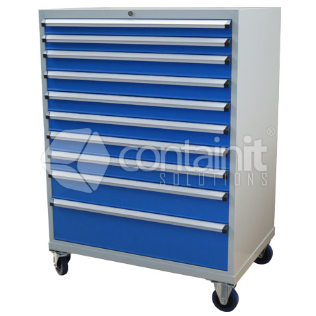 10 Drawer Cabinet with Castors CHD-1390-10C