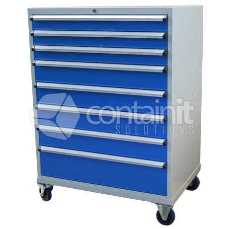 8 Drawer Cabinet with Castors CHD-1390-8C