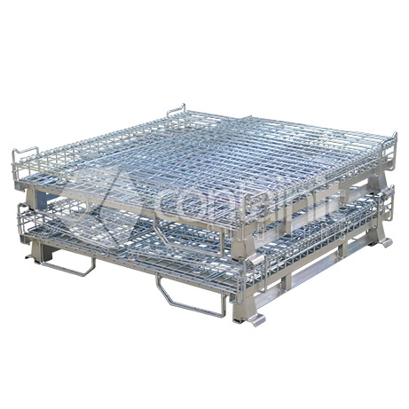 CWMC-1150-95 Full Height Wire Mesh Cage Collapsed